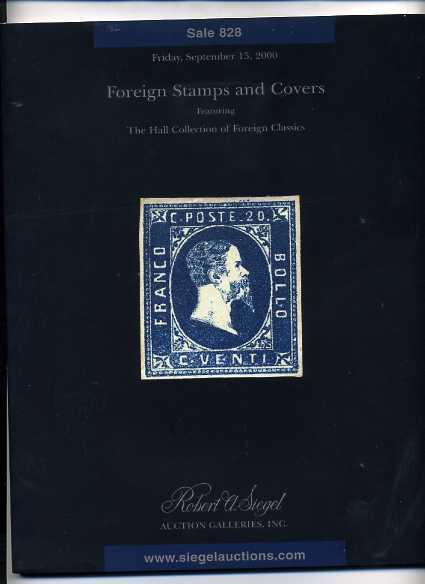 Siegel  Sale of the Hall Collection of Foreign Classics
