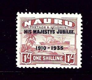 Nauru 34 MLH 1935 KGV Silver Jubilee overprint  (P38)