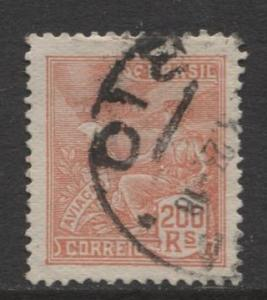 Brazil - Scott 227 - Aviation Issue -1920 - Used - Single 200r Stamp