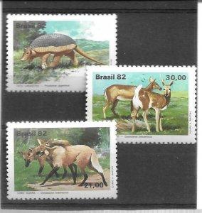 1982    BRAZIL  -  SG.  1958 / 1960 -  ANIMALS  -  MNH