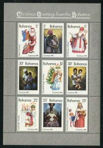 Bahamas 1981 Christmas S/S Sc# 504 NH