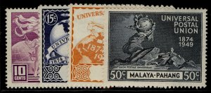 MALAYSIA - Pahang GVI SG49-52, anniversary of UPU set, NH MINT.