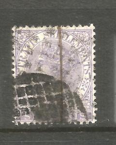 STRAITS SETTLEMENTS 1867-72  6c  QV  GU SG 13