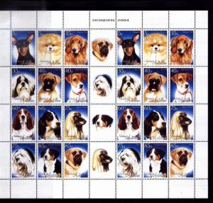 NETHERLAND ANTILLEN 2004 FAUNA DOGS FULL SHEET,2SETS WITH GUTTER YV 1447-58 MNH
