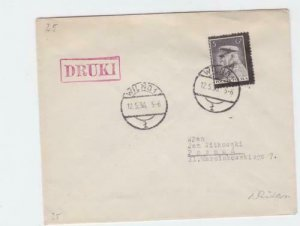 poland 1936   stamps cover ref r16098