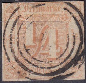 Thurn & Taxis #8 F-VF Used  CV $67.50 (K2331)