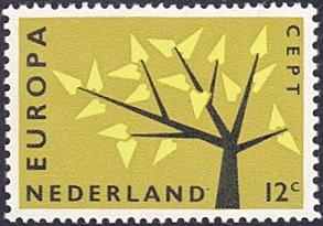 Netherlands # 394 mnh ~ 12¢ Europa - Tree