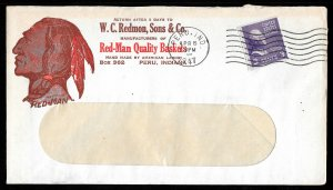 WCstamps: U.S. 1947 Red-Man Indian Advertising Cover