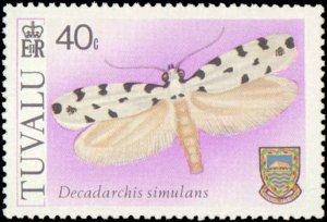Tuvalu #138-141, Complete Set(4), 1980, Butterflies, Never Hinged