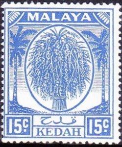 MAYALA KEDAH 1950 15c Ultramarine SG83 MH