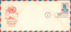 United Nations, New York, Postal Stationery, Worldwide First Day Cover