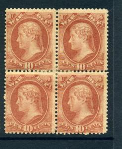 Scott #O88 WAR Dept. Official Mint Block (Stock #O88-8)