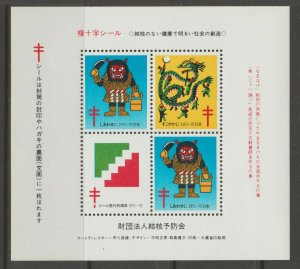 Japan Cinderella seal TB Charity revenue stamp 5-03-21 mint