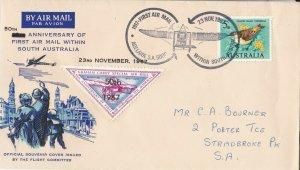 AFC216) AUSTRALIA 1967 1ST FLT.CVR.- ADELAIDE-GAWLER-AAMC 1618