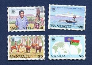 VANUATU - Scott 349-352 - FVF MNH - Commonwealth Day - 1983