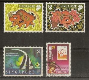 Singapore 1995 & 1997 Fish & New Year MNH