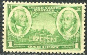 785 1c Washington & Greene Mint NH OG VF