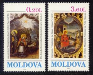 Moldova Sc# 151-2 MNH Christmas 1994
