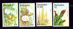 Barbados 834-37 MH 1993 Flowers