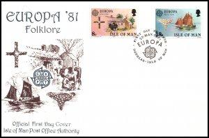 Isle of Man 191-192 Europa U/A FDC