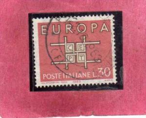 ITALIA REPUBBLICA ITALY REPUBLIC 1963 EUROPA UNITA CEPT LIRE 30 USATO USED OB...