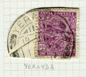 INDIA; POSTMARK fine used cancel on GV issue, Yeravda