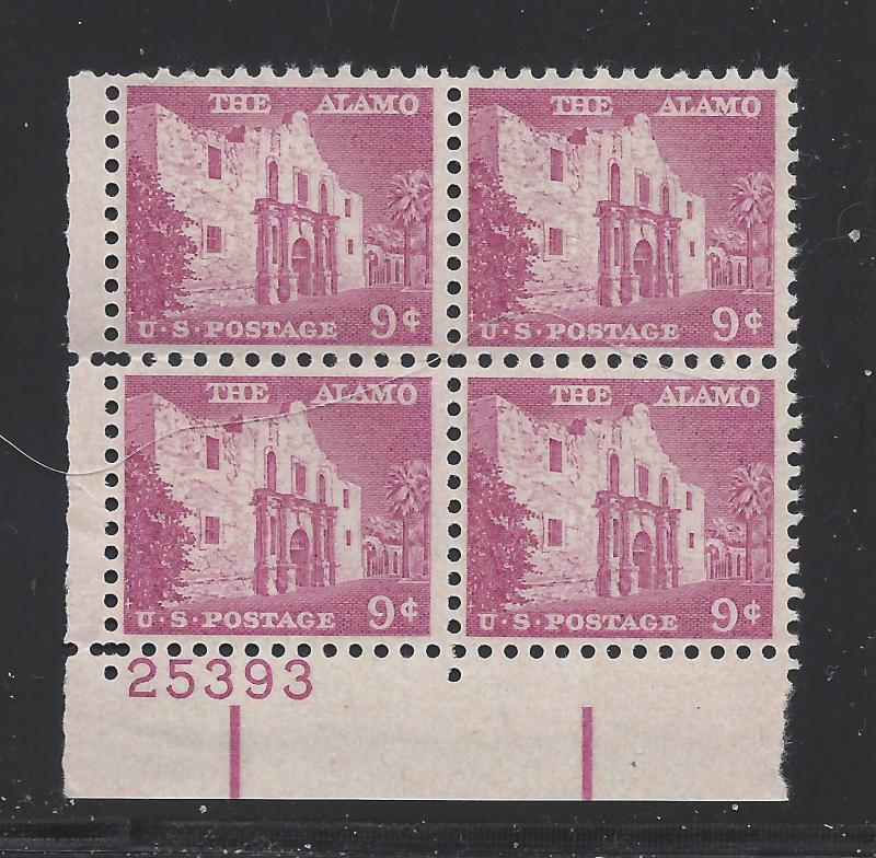 1043 9c LIBERTY SERIES- ALAMO - PB #25393 LL MNH CV*: $3.00 -  LOT 205