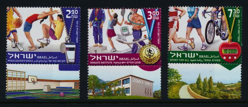 Israel 1671-3 + tabs MNH Sports, Physical Education