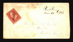 US 1863 New Berry PA Cover / Pen Cancel - Z18635