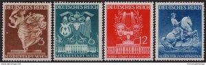GERMANY - Sc#502-505 1941 WWII Reich Vienna Fair Dancer Mask MNH