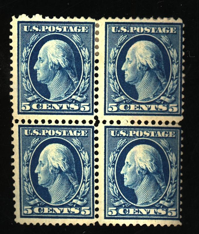 335 MINT Block F-VF OG Top HR Bottom NH Cat$310