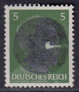 Germany Soviet Zone SBZ - LOCAL POCKAU 5Pf HITLER head - Expertized Valicek