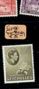 SEYCHELLES  (PP2108BB)  KGVI 21.25R  TURTLE  SG 148    MOG