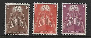 LUXEMBOURG 329-331 MNH EUROPA SET 1957