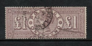 Great Britain #110 Very Fine+ Used With Light Cancel - Watermark Imperial Crown