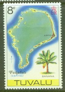TUVALU Scott 27 MNH** Map of Funafuti atol