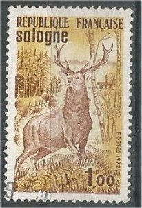 FRANCE, 1972 used 1fr, Red Deer, Scott 1334