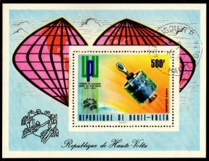 Upper Volta - Cancelled Souvenir Sheet Scott #C192 (Satellite Communications)
