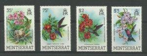 MONTSERRAT 1983 Set of 4, Humming Birds Issues, Sg 571-574, UnM/Mint {Box 5-15}