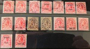 TURKS & CAICOS ISLANDS - 1919 War Tax Collection Mint