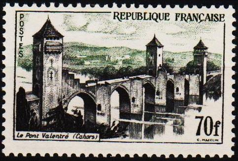 France.1955 70f  S.G.1268b Mounted Mint
