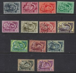 Hungary 871-73 Used 1950 missing high value (ap6474)