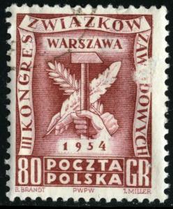 POLAND - SC #623 - Used Fault - 1954 - Item Poland093