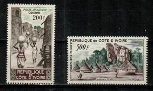 Ivory Coast Scott C19-20 Mint NH (Catalog Value $20.50)