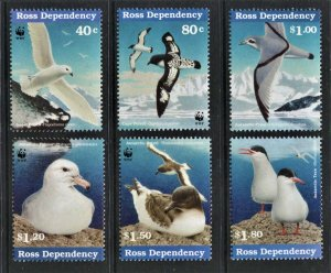 STAMP STATION PERTH Ross Dependency #L43-L48 Sea Birds Set  MNH CV$15.00