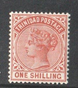 1884 TRINIDAD - S.G:112  -  1/-  ORANGE BROWN MOUNTED MINT - Q. VICTORIA