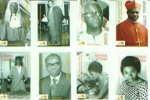 Important Personalities of Ghana, Set of 8, GHAN07032