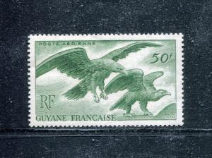 French Guinea C18, MNH, Airmail Birds: Eagles 1947. x29189