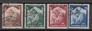 Germany - 1935 Return of the SAAR Sc# 448/451 (868N)