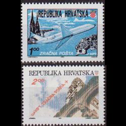CROATIA 1991 - Scott# C1a-2a Flight Set of 2 NH